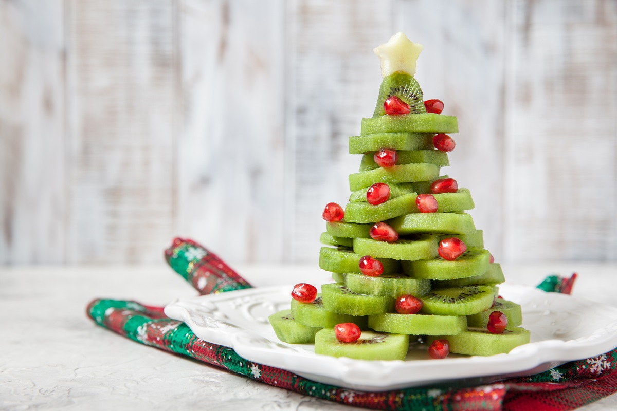 Kiwi fruit Christmas tree
