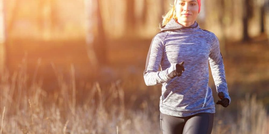 Going out to walk or jog during winter is a good way to keep your body moving.