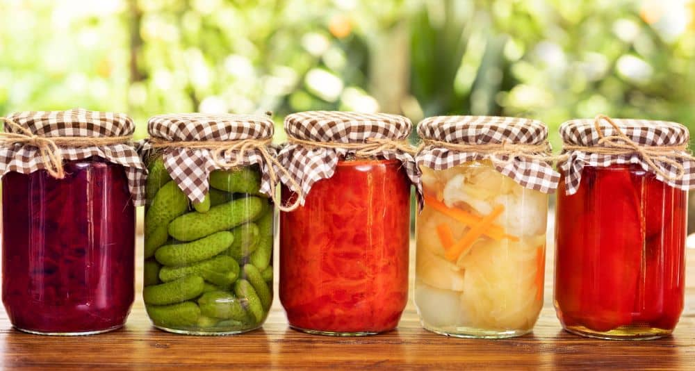 Pickled and fermented vegetables are good for digestion.