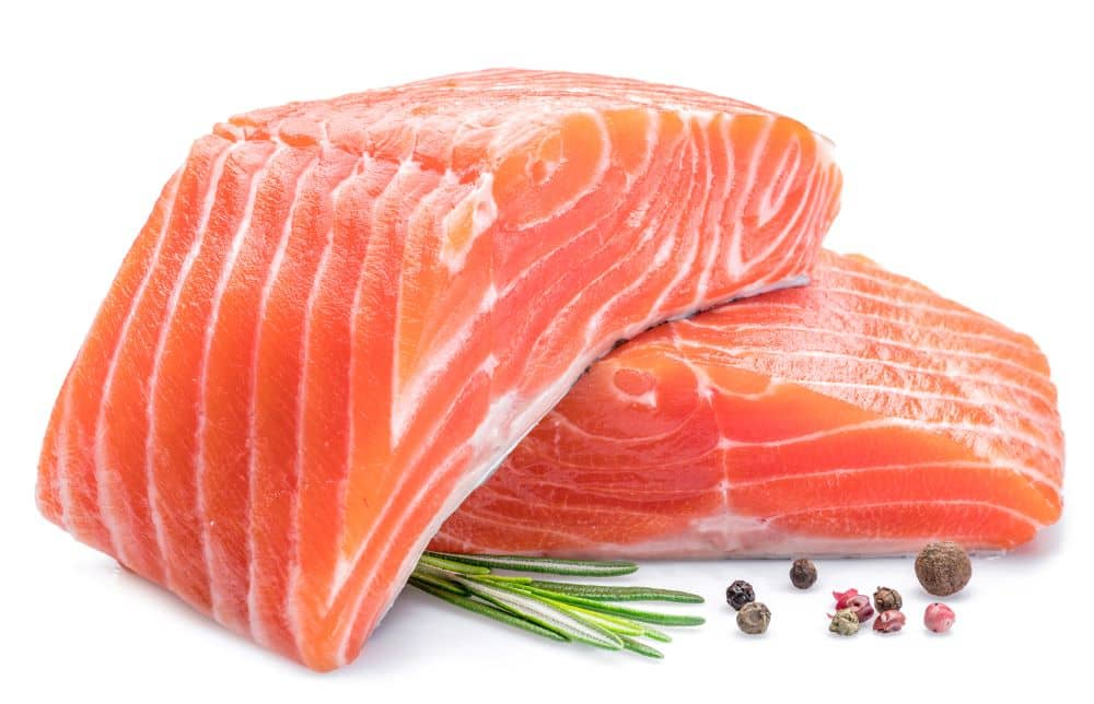 Salmon is rich in Omega 3 fatty acids.