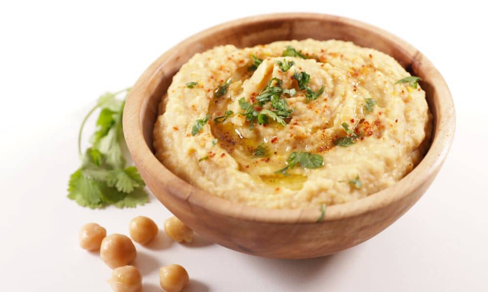 Hummus is rich in fibre which promotes good digestion.