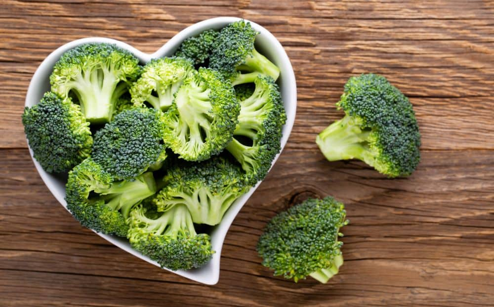 Broccoli has high levels of antioxidants.