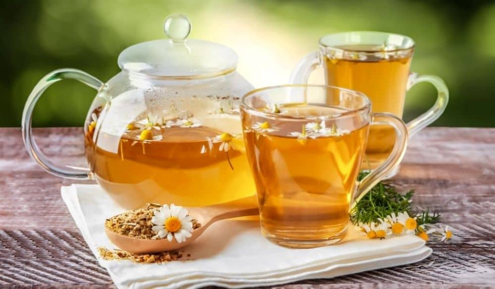 Chamomile tea also helps with sleep and relaxation.