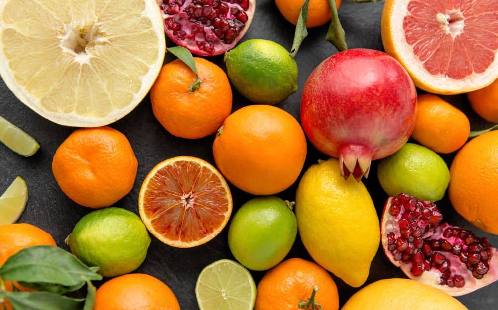 Citrus fruits like lemons, limes, and oranges have a long life when refrigerated.