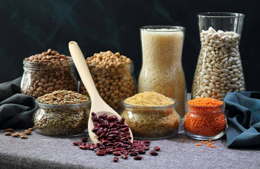 Beans, peas, and lentils and rich sources of potassium and magnesium which are important for muscle and nerve function.