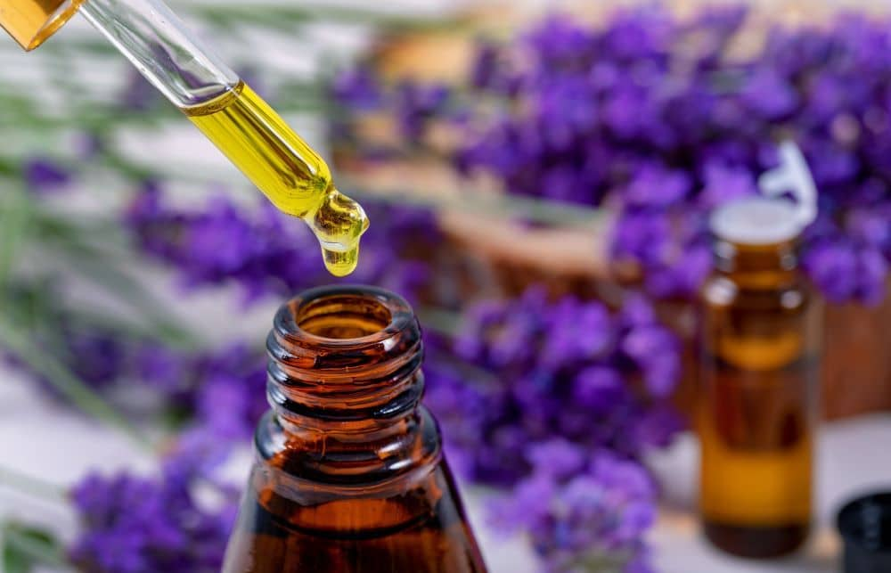 High-quality essential oils are sold in dark amber or dark blue glass bottles.