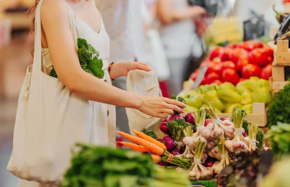 Sticking to the perimeter of the store, where healthier foods are often found.
