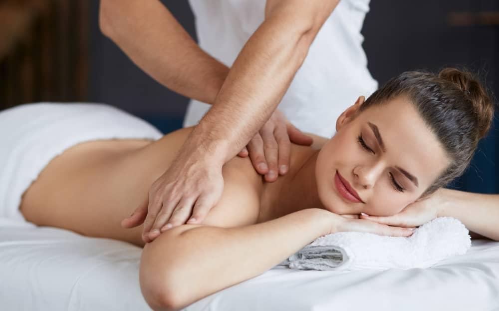 Body massage.