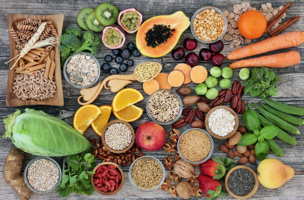 Foods rich in fiber.