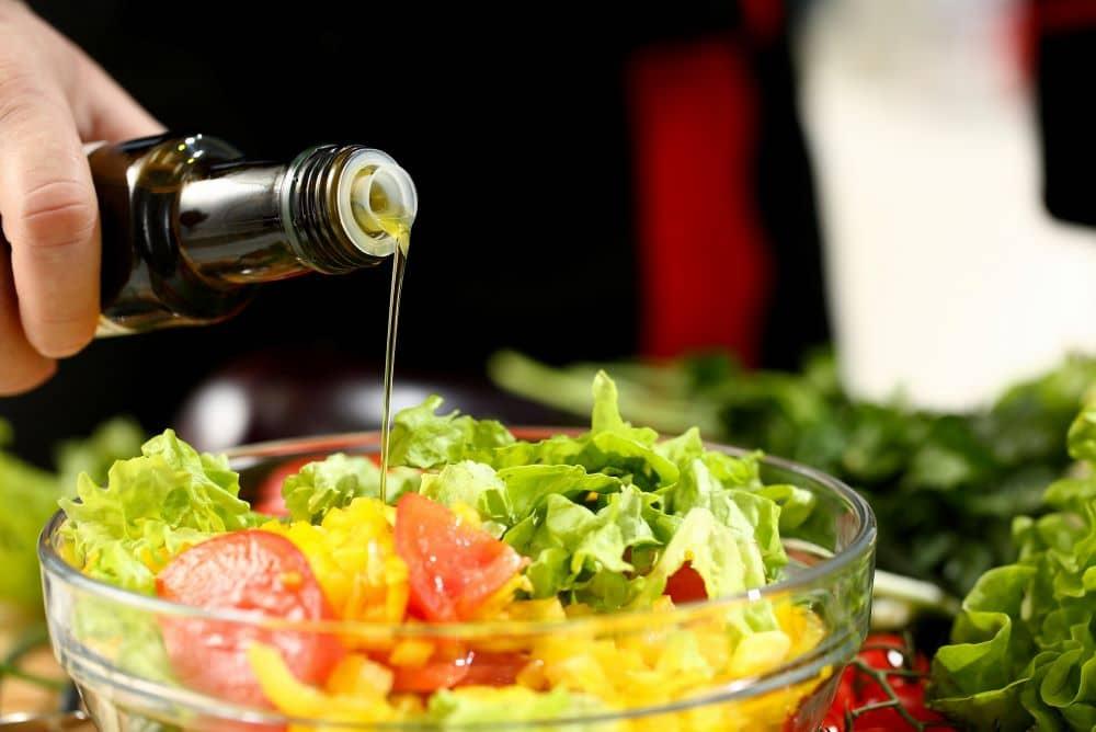 Olive oil salad dressing.